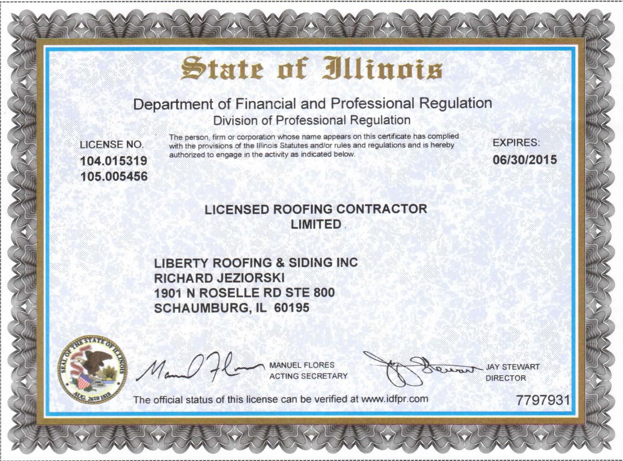Illinois Roofing License Required In Illinois To Have A