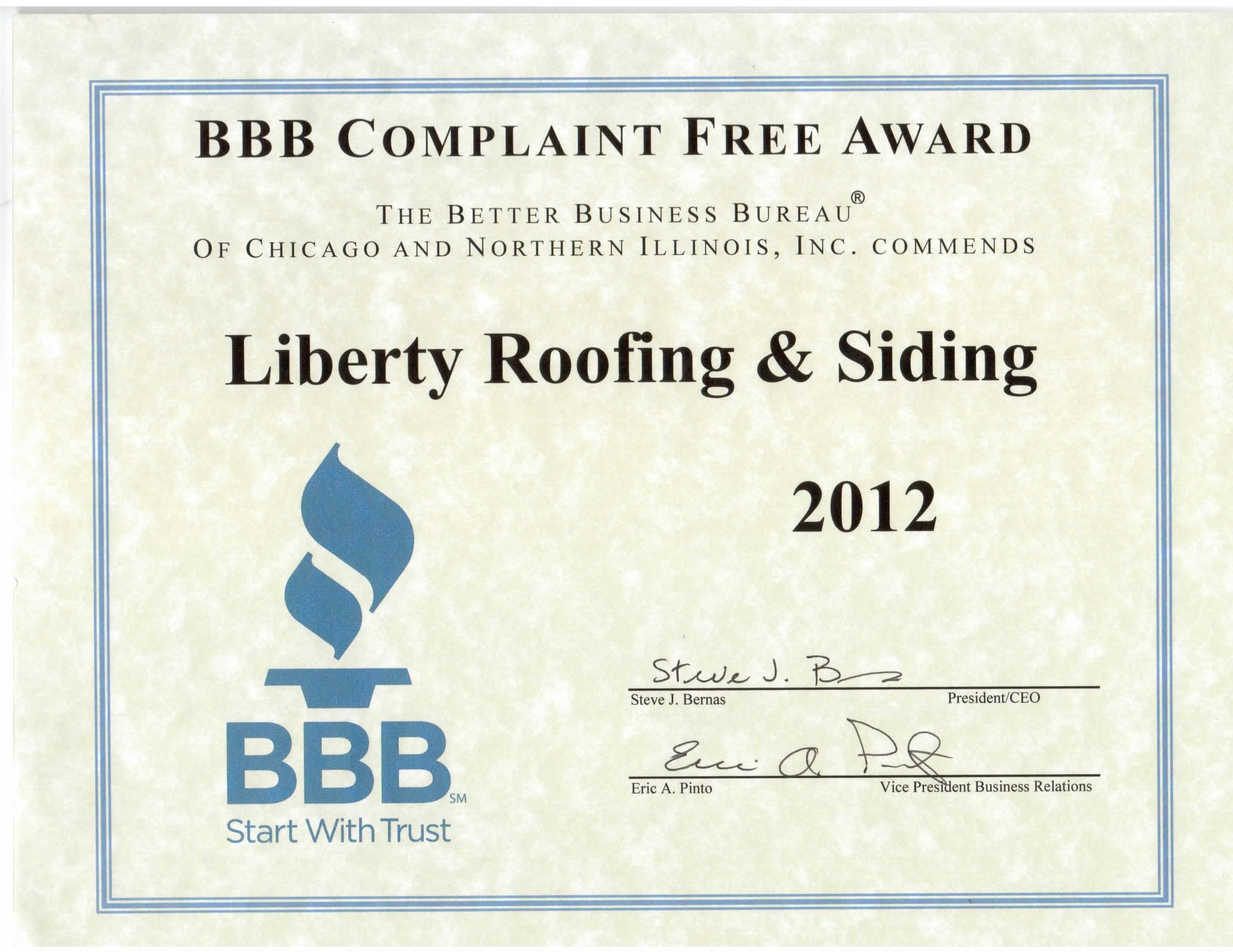 New Roof Elgin Illinois Referral Letter Elgin Roofing